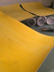 Yellow base coat